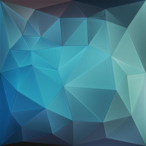 Fond géométrique bleu vecteur