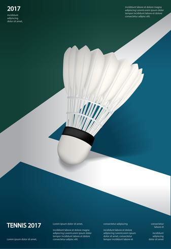 Illustration vectorielle de badminton championnat affiche vecteur