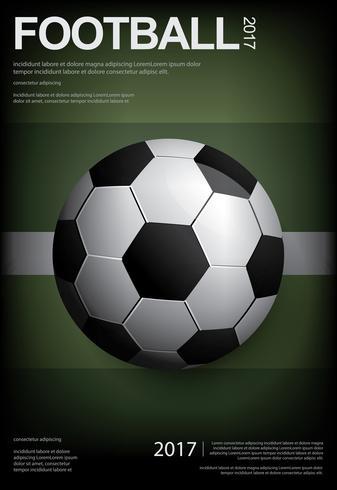 Affiche de football football illustration vestor vecteur