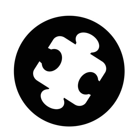 icône de puzzle vecteur