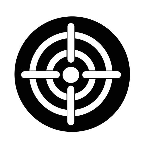 Icône cible vecteur