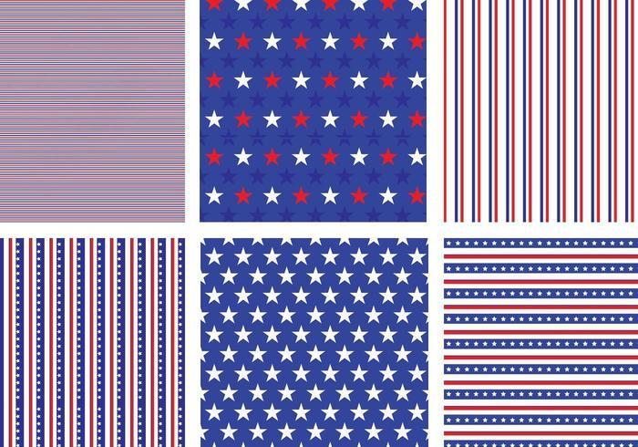 Ensemble vectoriel de motifs étoiles et rayures des États-Unis