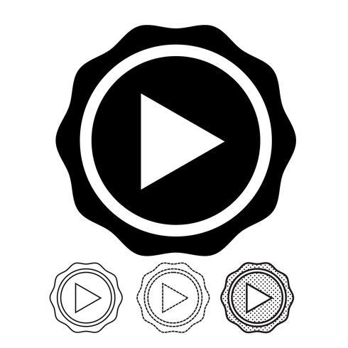 bouton icône du lecteur vidéo vecteur