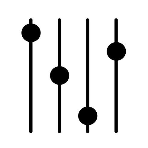 Icône de signe de contrôle vecteur