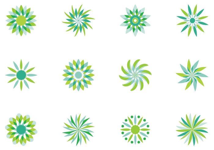 Pack de vecteur floral abstrait