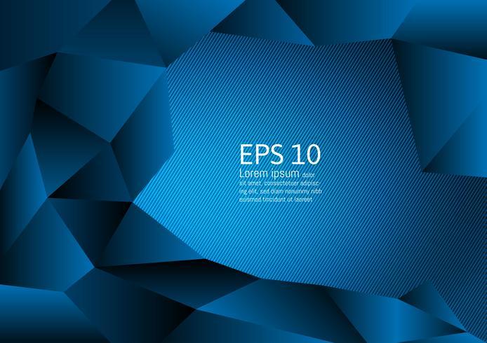 Design moderne de couleur bleue polygone abstrait, illustration vectorielle avec espace de copie vecteur