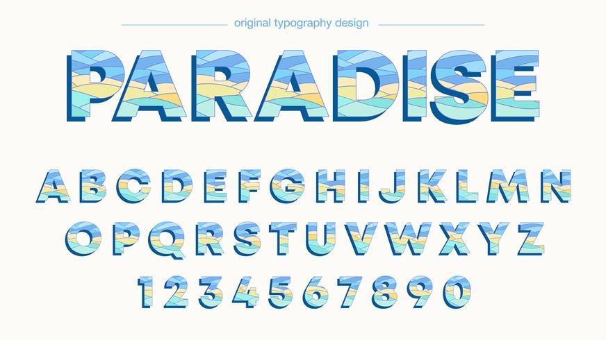 Typographie colorée vecteur