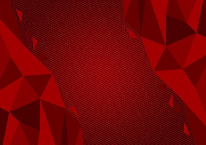 Design moderne de couleur rouge polygone abstrait, illustration vectorielle avec espace de copie vecteur