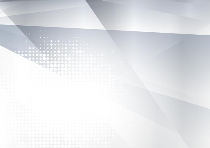 Fond de vecteur abstrait géométrique gris et argent avec espace copie