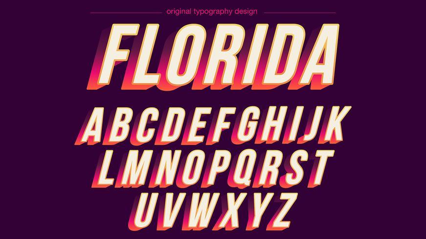 Typographie colorée audacieuse vecteur