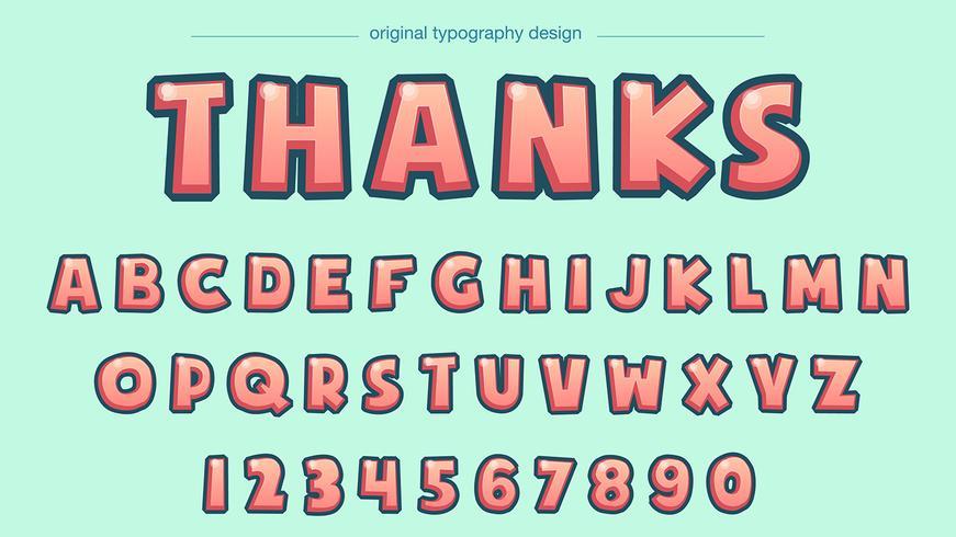 Typographie rouge clair comique vecteur