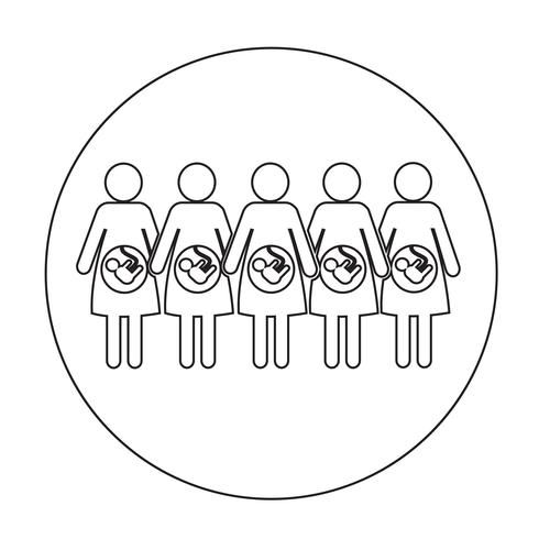 Icône de la femme enceinte vecteur
