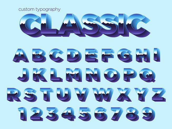 Typographie Vintage effet de lumière vecteur