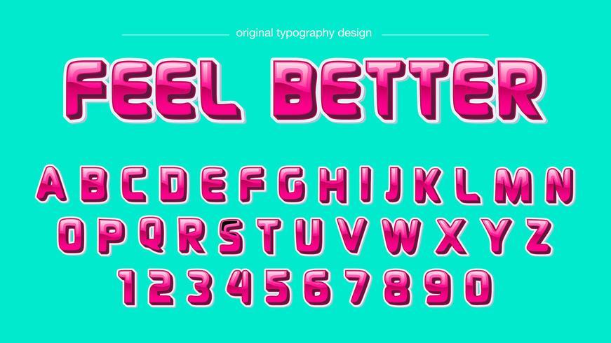 Typographie audacieuse rose brillant vecteur