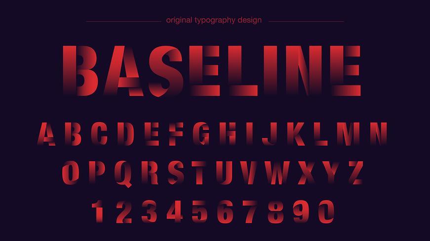 Typographie abstraite de formes rouges vecteur