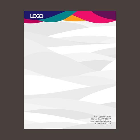 Modèle de papier à en-tête coloré vecteur