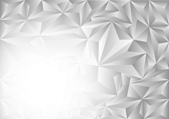 Fond abstrait vectoriel gris et blanc polygone, illustration vectorielle