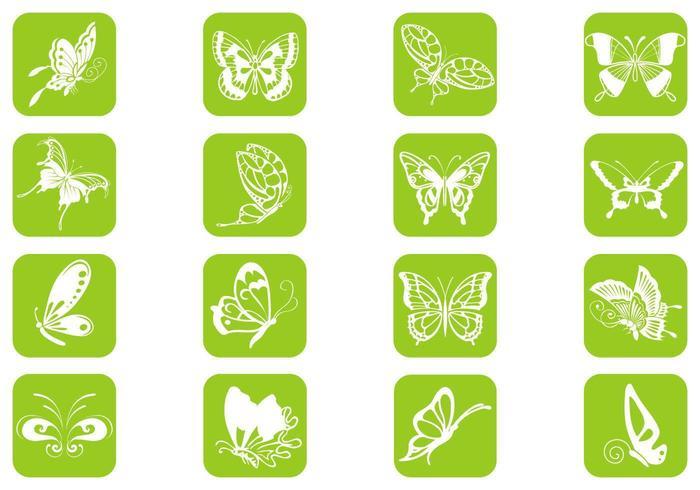 Pack vectoriel de papillons
