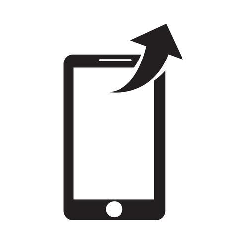 illustration vectorielle smartphone icône vecteur
