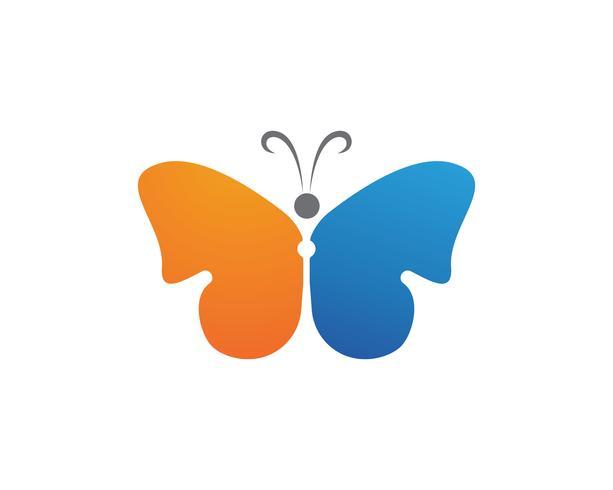 Icône simple, coloré de logo beauté papillon. Logo. Illustration vectorielle vecteur