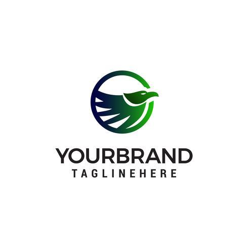 oiseau abstrait logo design concept template vecteur