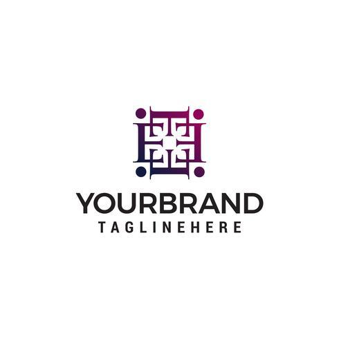 lettre e décoration logo design concept template vecteur