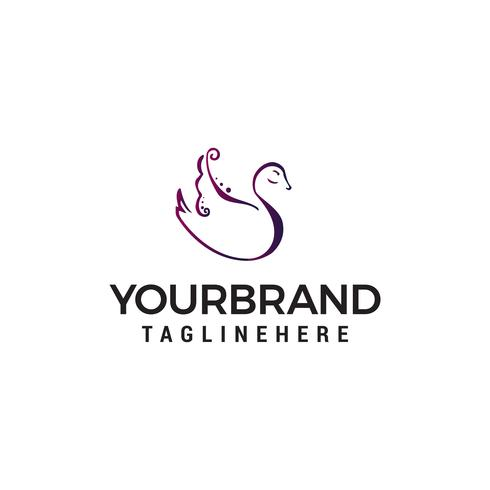 swan logo design concept template vecteur