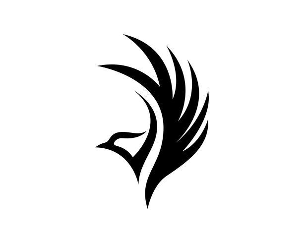 Ailes oiseau signe modèle abstrait app icônes vecteur