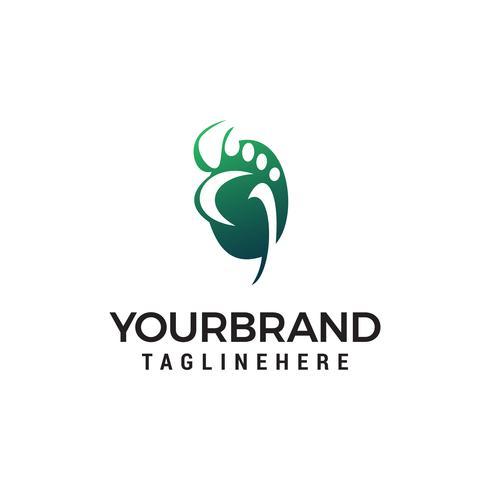 soins des pieds logo design concept template vecteur