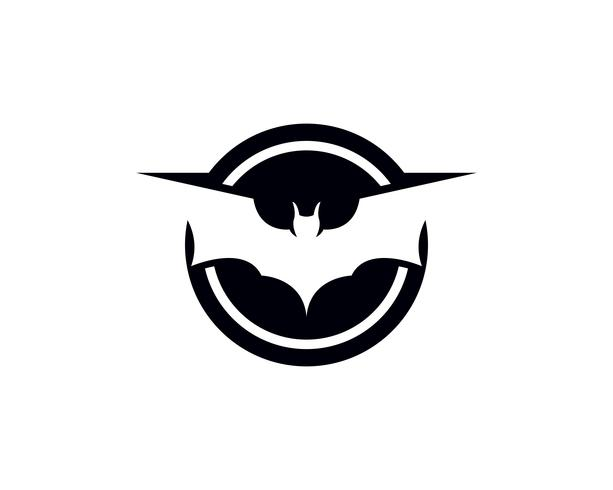 Modèle de logo et symboles de chauve-souris vecteur