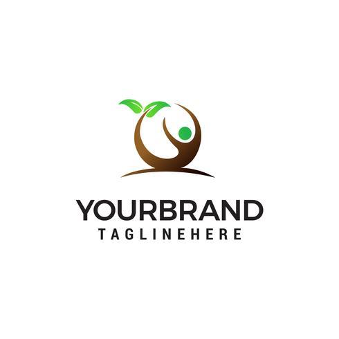 personnes feuille logo design concept template vecteur