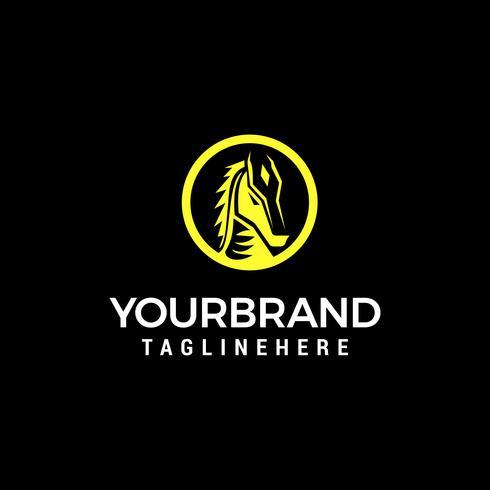 Licorne tête logo design concept template vecteur