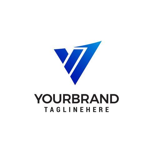 lettre v tech logo design concept template vecteur