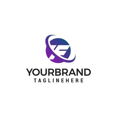 lettre F logo design concept template vecteur