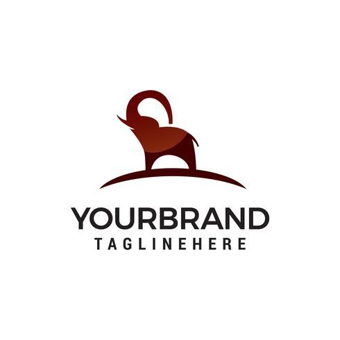 éléphant logo design concept template vecteur