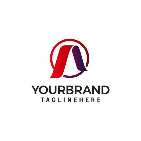 lettre Un modèle de logo abstrait design concept vecteur