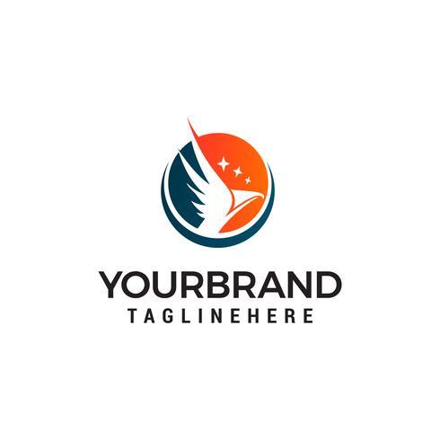 aigle avec vecteur logo star design concept