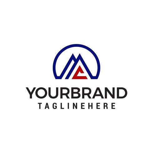 lettre aa logo design concept template vecteur