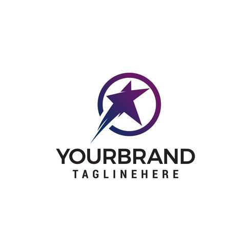 star fast logo design concept template vecteur
