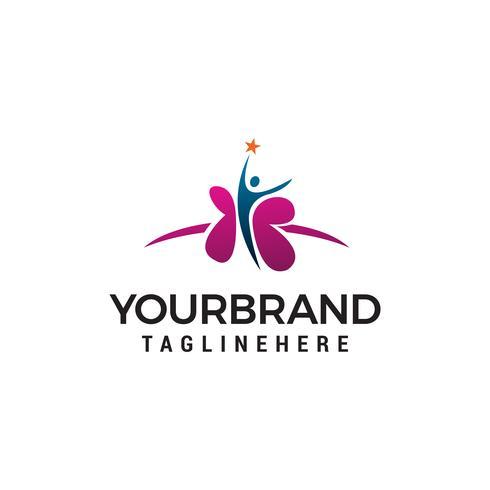 médical santé gens logo design concept template vecteur