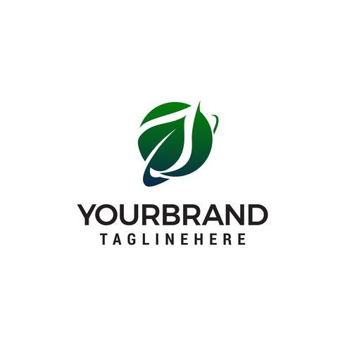feuille logo design concept template vecteur