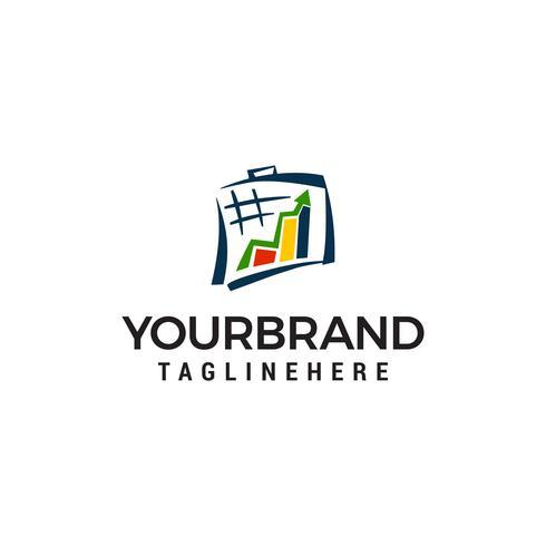 Vecteur de croissance cible logo design concept