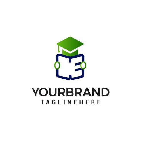 étudiant ouvert livre logo design concept template vecteur