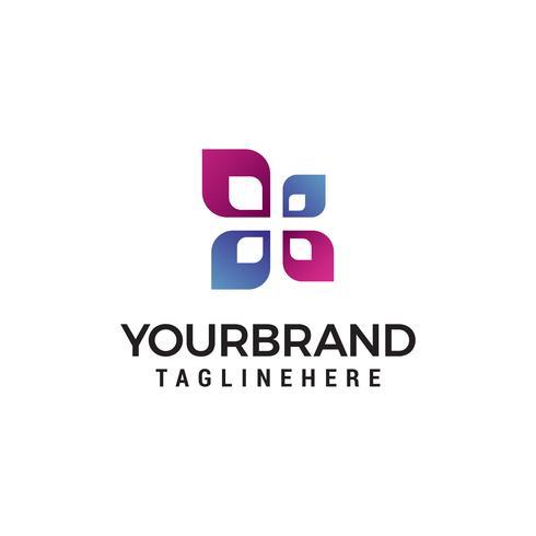 feuille concept logo design concept template vecteur