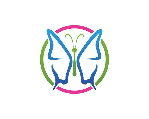 Papillon conceptuel simple, icône colorée. Logo. Illustration vectorielle vecteur