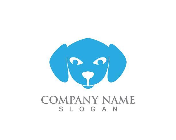 Modèle de logo vectoriel silhouettes chat et chien