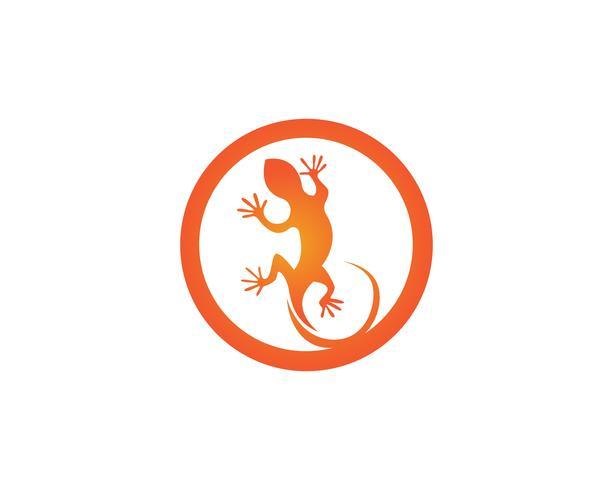 Le logo des animaux de lézard et les symboles vectoriels temlate vecteur