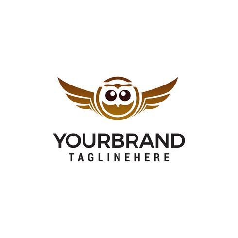 chouette logo design concept template vecteur