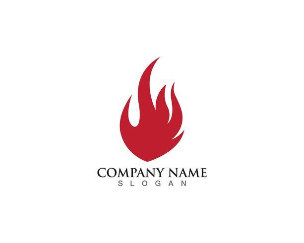 modèle de logo flamme de feu vecteur
