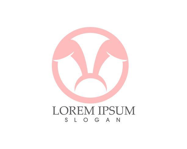 Lapin Logo template vector icon design